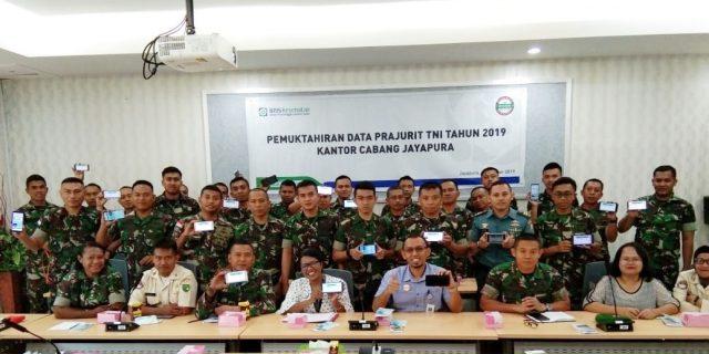 BPJS Kesehatan Melakukan Pemutakhiran Data Prajurit TNI di Kota Jayapura