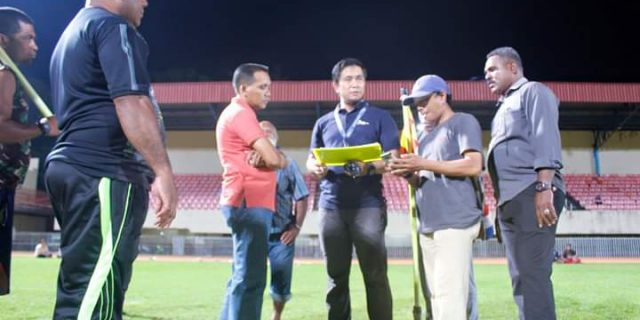 BOPI dan PT. LIB Verifikasi Stadion Mandala Jayapura