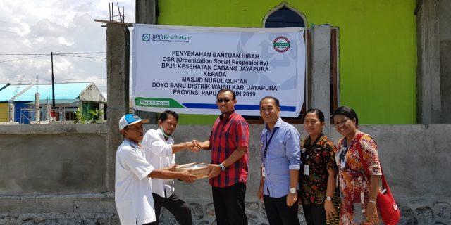 BPJS Kesehatan Jayapura Bantu Pembangunan Masjid Nurul Quran