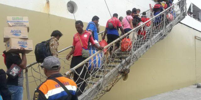 Pelni Angkut 2.970 Warga yang Eksodus dari Wamena Kembali ke Kampung Halamannya