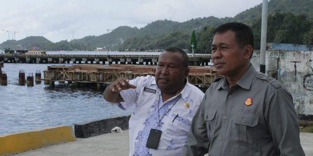 Pembangunan Pelebaran Pelabuhan Serui Pekerjaan 2018, Kembali Dilanjutkan
