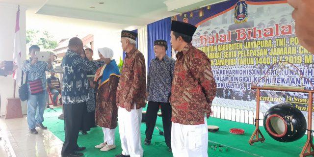 105 Jamaah Calon Haji di Lepas Bupati Jayapura